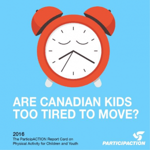 ParticipACTION flyer with sleeping clock