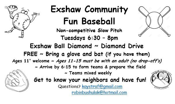 Exshaw Fun softball
