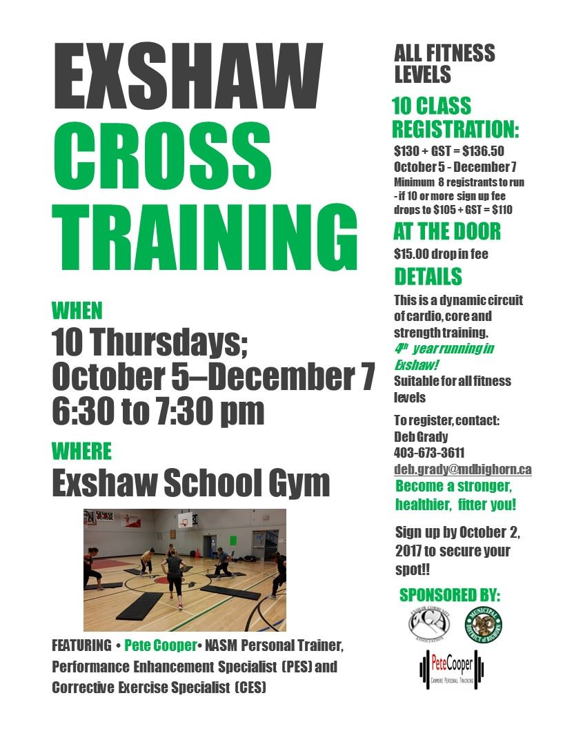 Cross Training Oct -Dec 2017