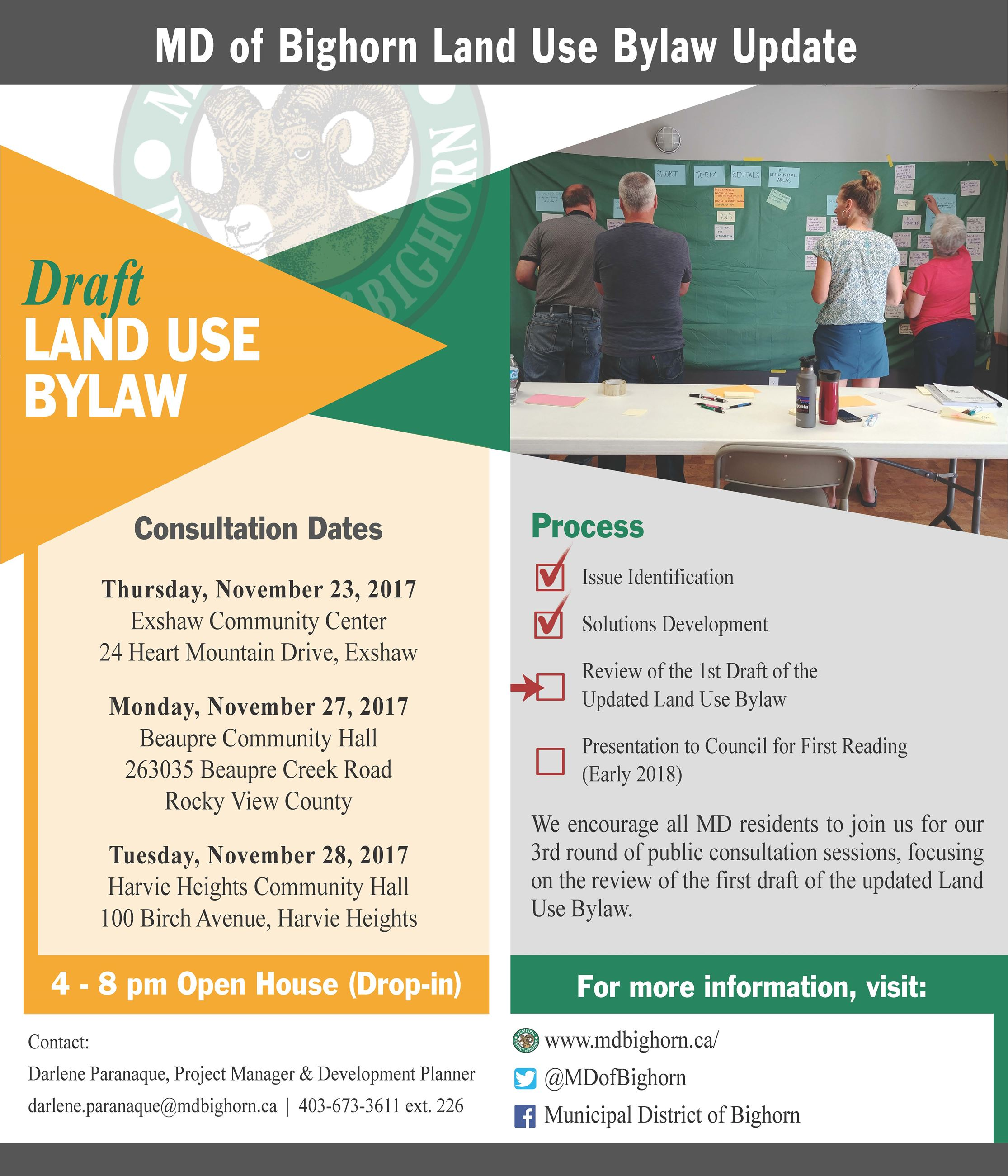 Land Use Bylaw - 1st Draft Consultation Open Houses